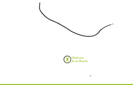 Carte pour situer le Château de la Rairie