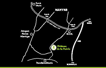 Carte pour situer le Château de la Rairie