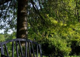 Banc dans le parc du Château de la Rairie à Pont Saint Martin (44)