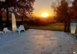 levé du soleil au Château de la Rairie à Pont Saint Martin