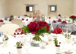 Décoration de table pour un Mariage au Château de la Rairie près de Nantes