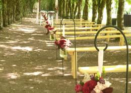 Cérémonie dans l'Allée des Amoureux au Château de la Rairie à Pont Saint Martin