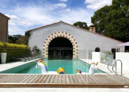 Décoration dans la piscine avec les licornes au Chateau de la Rairie à Nantes