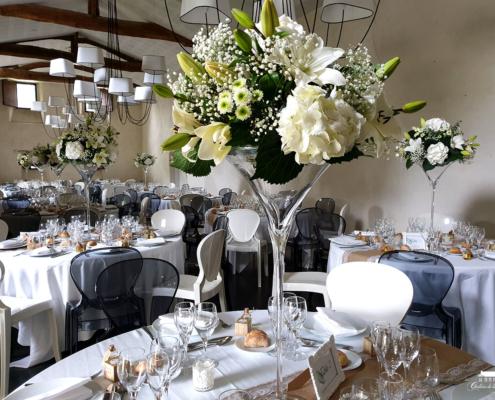 Décoration Florale réalisé par Flower 7 pour un Mariage au Château de la Rairie en Loire Atlantique