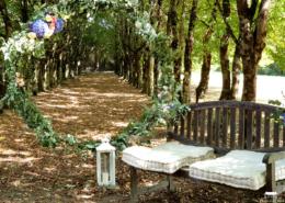 Cérémonie dans l'Allée des Amoureux dans le parc du Chateau de la Rairie 44