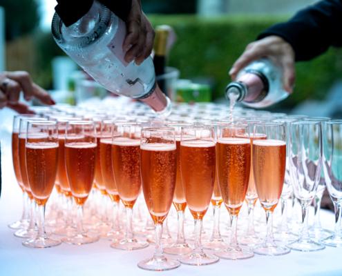 Service du Cocktail sur la Terrasse au Chateau de la Rairie à Nantes
