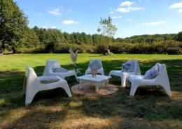 Petit salon cosy dans le parc du Château